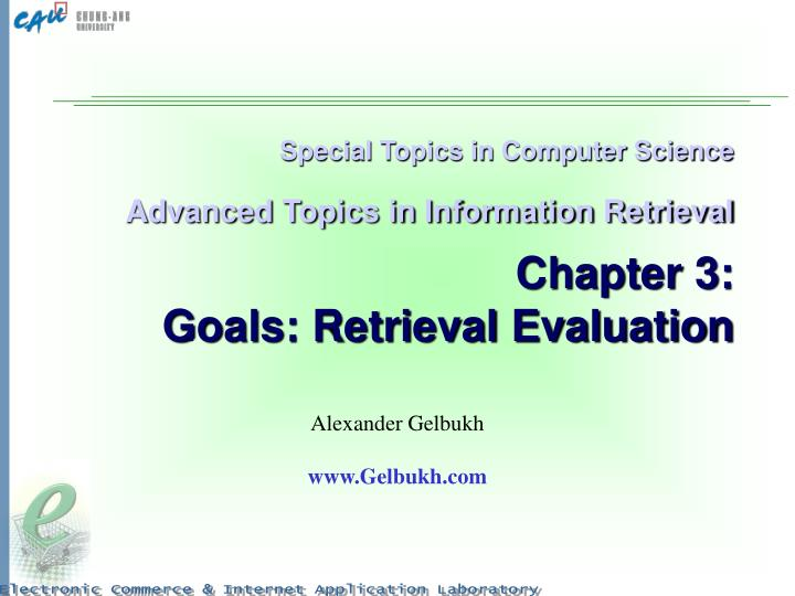 Special Topics in Computer Science