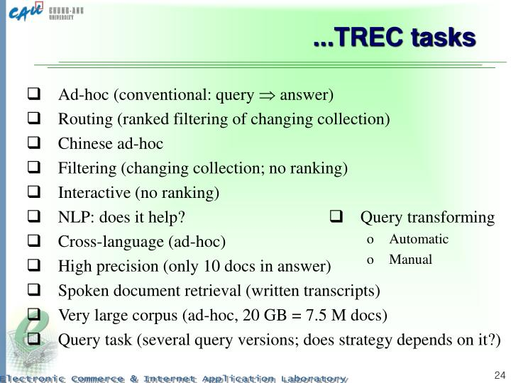 Ad-hoc (conventional: query