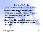 eurosafe two problems found in the standards