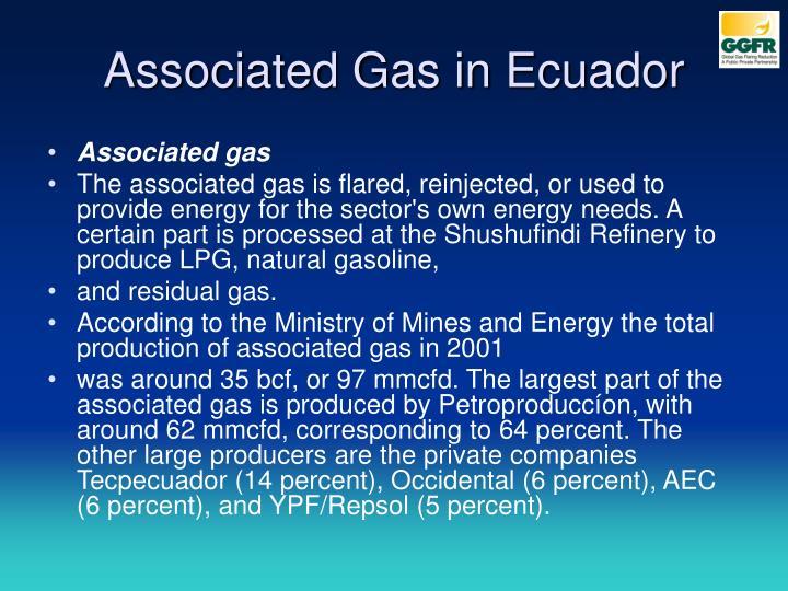 Associated Gas in Ecuador