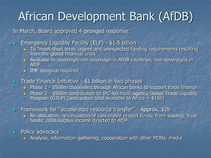 African Development Bank (AfDB)