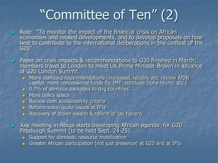 Committee of ten 2