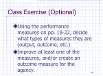 class exercise optional