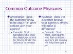 common outcome measures1