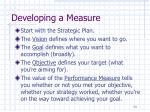 developing a measure