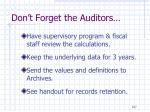 don t forget the auditors1
