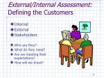 external internal assessment defining the customers