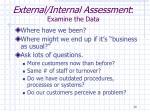 external internal assessment examine the data