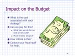 impact on the budget