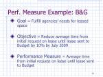 perf measure example b g