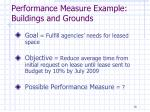 performance measure example buildings and grounds