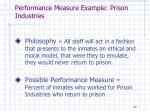 performance measure example prison industries1