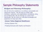 sample philosophy statements