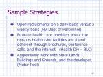 sample strategies