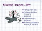 strategic planning why