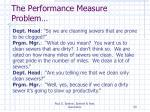 the performance measure problem1