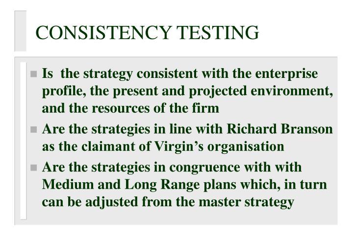 CONSISTENCY TESTING
