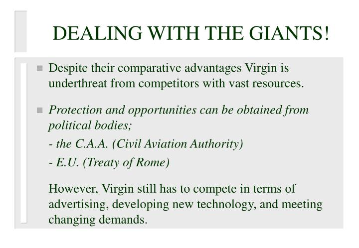 DEALING WITH THE GIANTS!