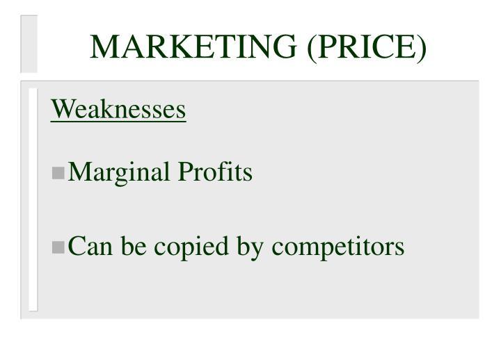 MARKETING (PRICE)