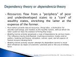 dependency theory or dependencia theory