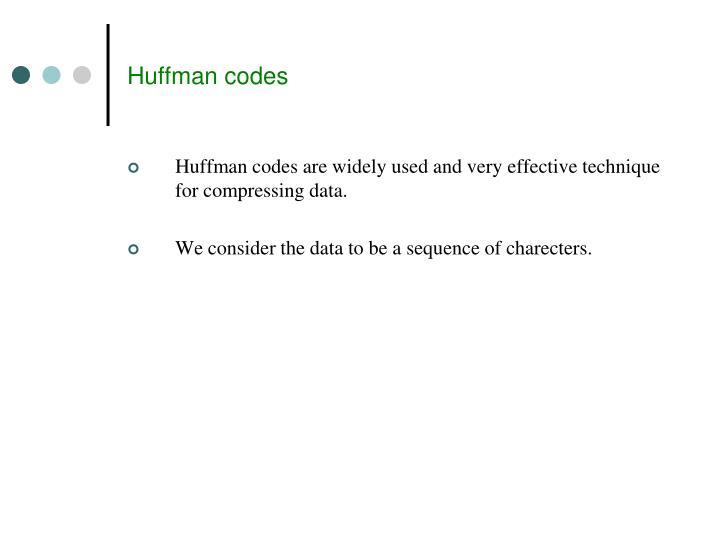 Huffman codes
