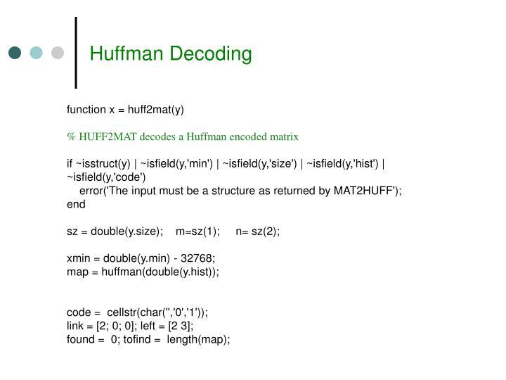 Huffman Decoding