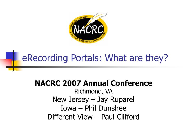erecording portals what are they n.