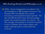 pr s evolving practice and philosophy cont d1