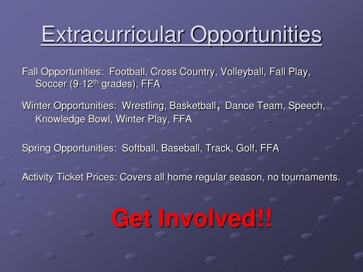 Extracurricular Opportunities