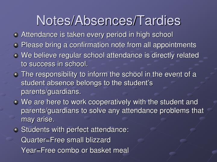 Notes/Absences/