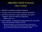 obstruction nasale chez l enfant