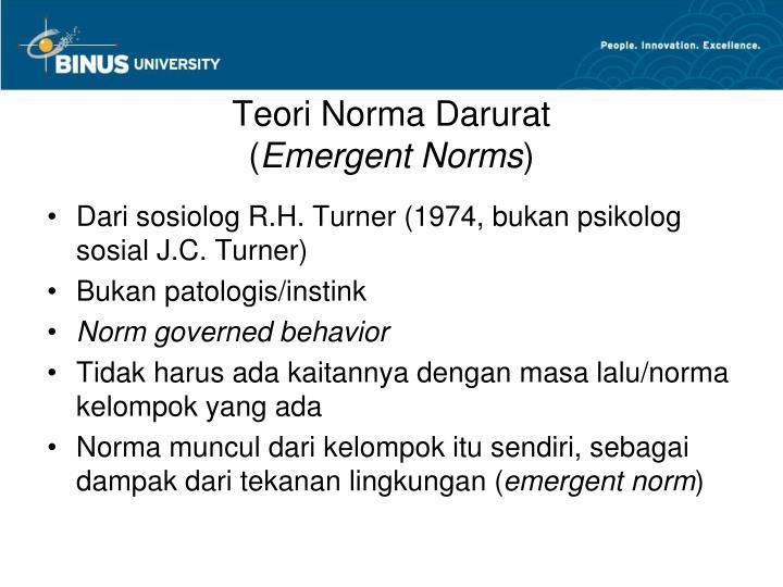Teori Norma Darurat