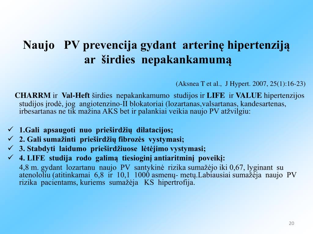 hipertenzijos farmakologijos paskaita
