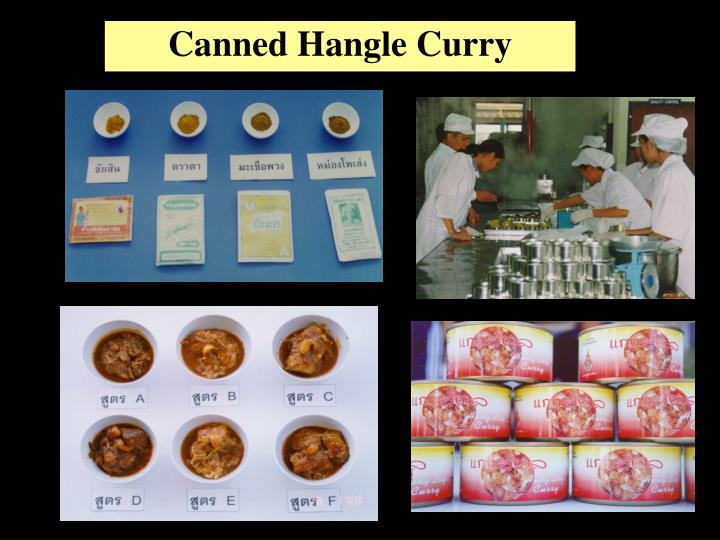 Canned Hangle Curry