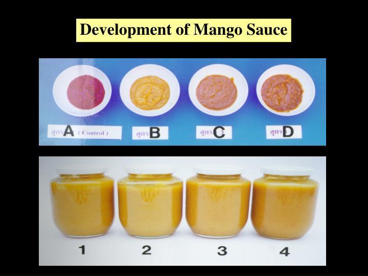 Development of Mango Sauce
