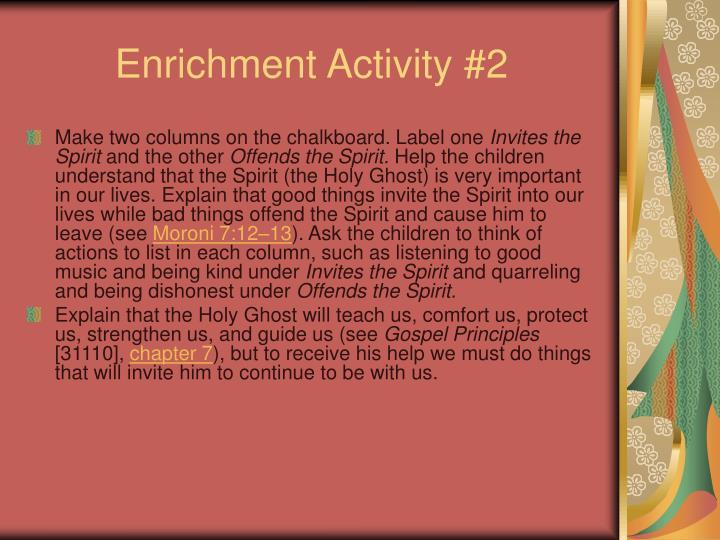 Enrichment Activity #2
