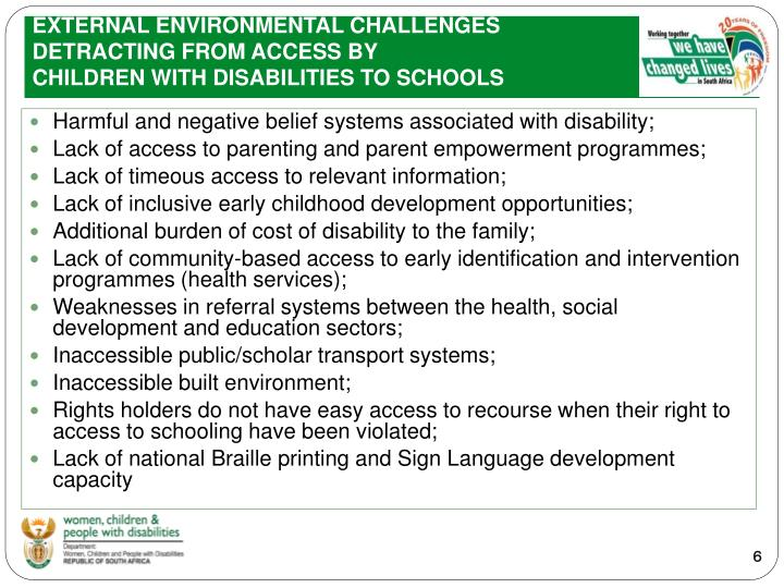 EXTERNAL ENVIRONMENTAL CHALLENGES