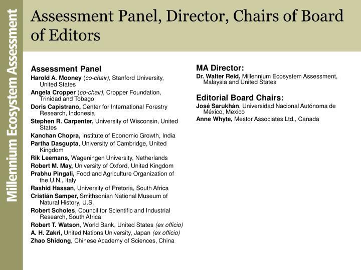 Assessment Panel