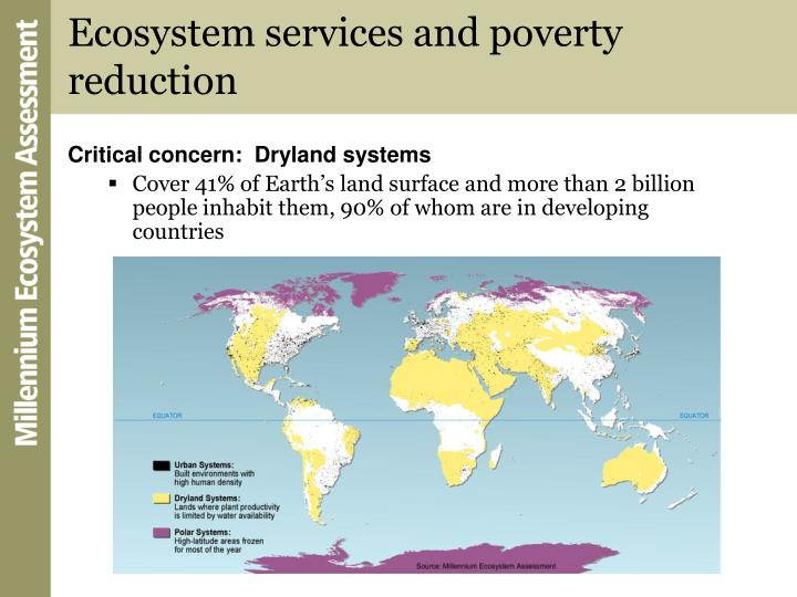 Ecosystem services and poverty reduction