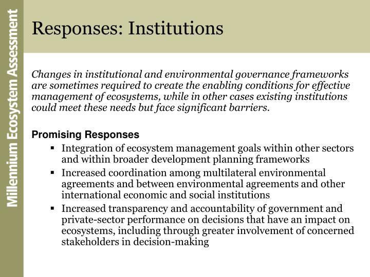 Responses: Institutions