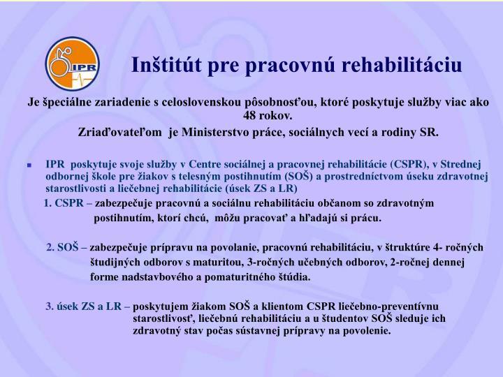 Inštitút pre pracovnú rehabilitáciu
