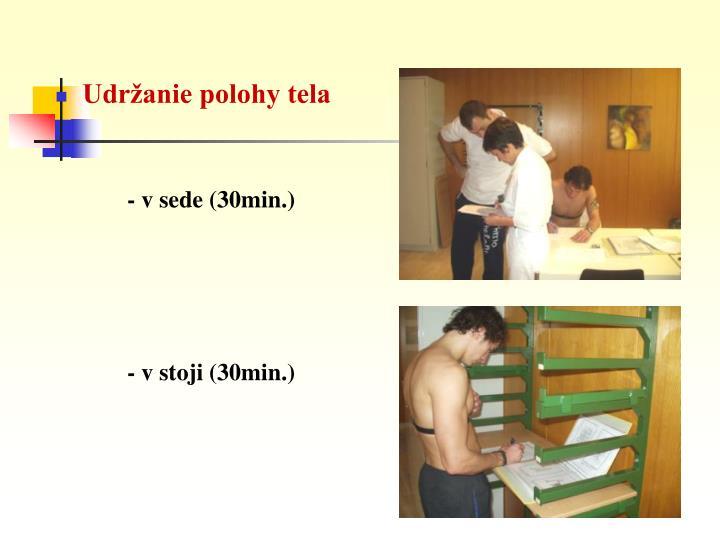 Udržanie polohy tela
