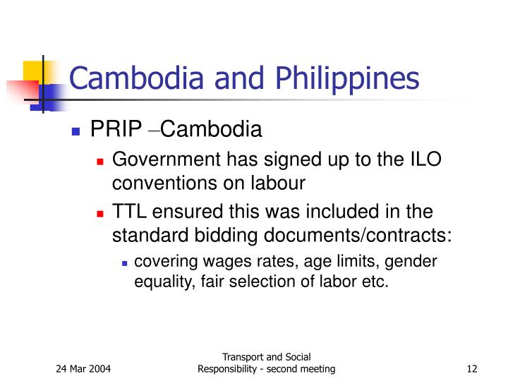 Cambodia and Philippines
