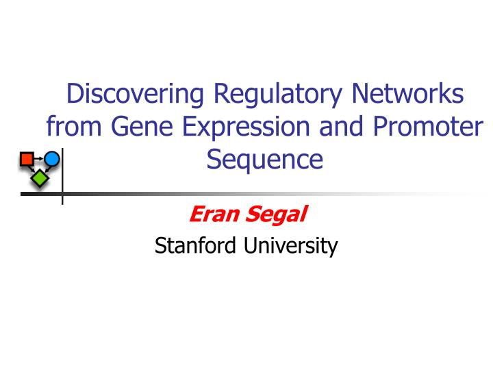 discovering regulatory networks from gene expression and promoter sequence n.