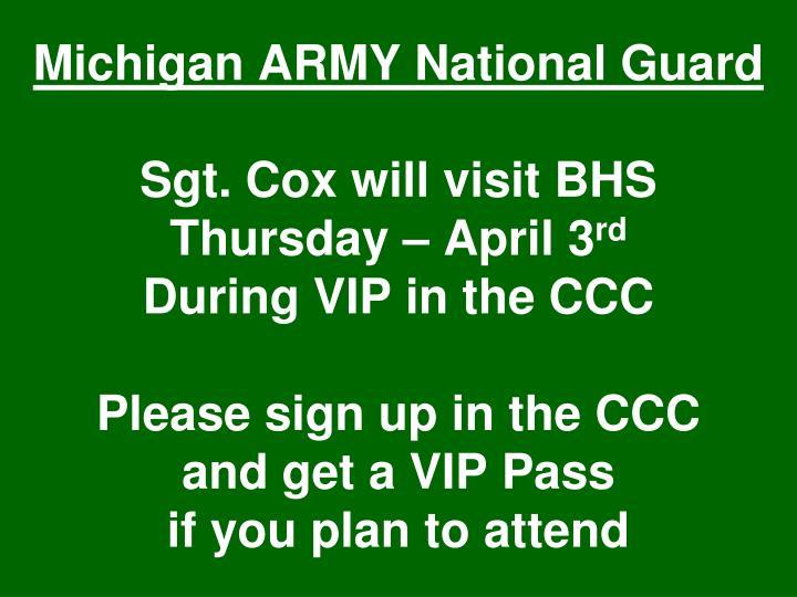 Michigan ARMY National Guard