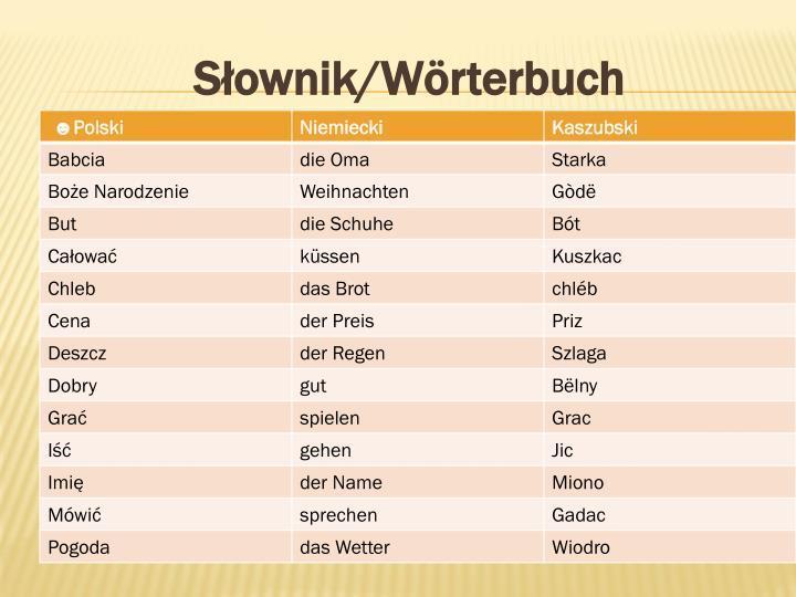 Słownik/Wörterbuch