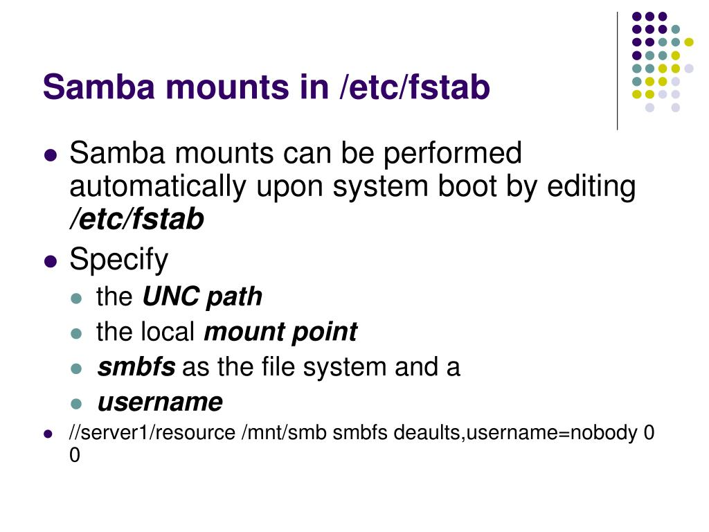 PPT - SAMBA PowerPoint Presentation, free download - ID:4740646