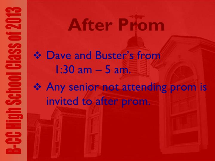 After Prom