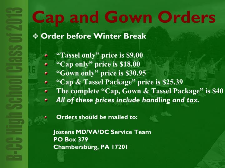 Order before Winter Break
