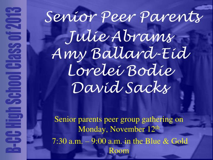 Senior Peer Parents